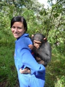 jessica with chimp